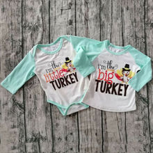 Sister Matching Thanksgiving Turkey Chicken Shirt and Romper