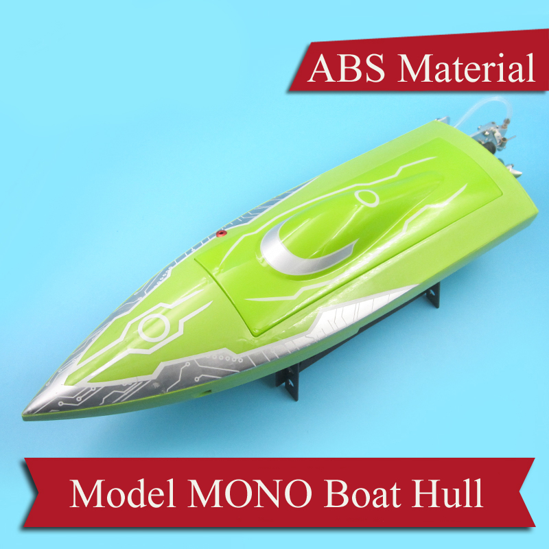 1PC MONO Toy RC <font><b>Boat</b></font> <font><b>Hull</b></font> Length 45cm*Width 14cm ABS Shell with Red/Green/Yellow/Blue Color DIY Accessories for <font><b>Boats</b></font> <font><b>Model</b></font> image