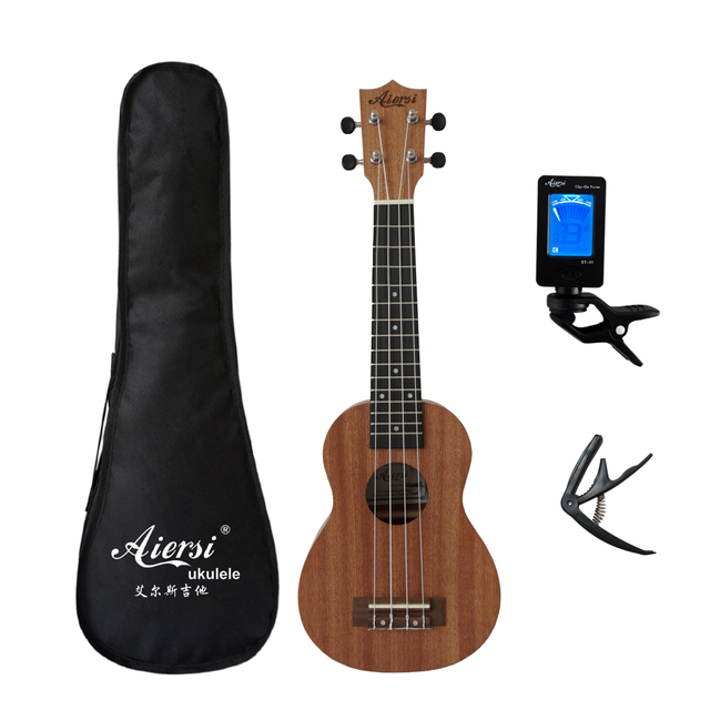 Aiersi full pack 21 inch ukelele mahogany Soprano gecko ukulele guitar musical gifts instrument 4 string Hawaiian mini guitarra 2