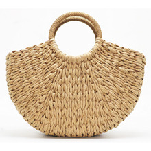 2019 New Retro Straw Bag Women Hand-Woven Hollow Handbag Bohemian style Rattan Big Capacity Casual Travel Beach