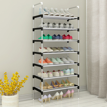 Storage Shoes Shelf Easy to Assemble Metal Shoe Rack Boots Sneakers Stand Portable Space saving Shoe Organizer with Handrail