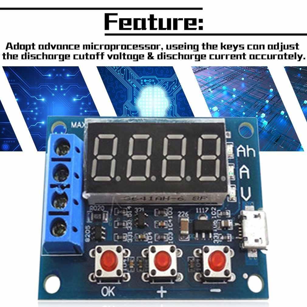 Power Battery Capacity Tester Module LED Digital Li-ion Lithium 18650 External Load Battery Discharge Testing Analyzer Board