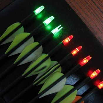 12PCS Green Lighted Nocks Internal Archery Hunting LED Lighted Arrow Nocks Tail