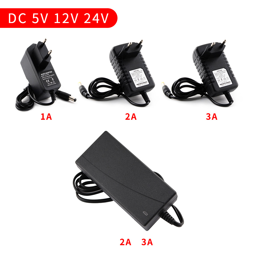 AC <font><b>DC</b></font> 220V TO <font><b>12V</b></font> 3V 6V 9V Power Supply Adapter Source 5V <font><b>12V</b></font> 24V 1A 2A 3A Transformer Switching Power Supply 5.5mm*2.5mm EU US image