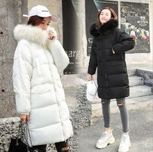 HCBLESS Womens Parka womens winter new loose thick student cotton jacket wild fashion long bread