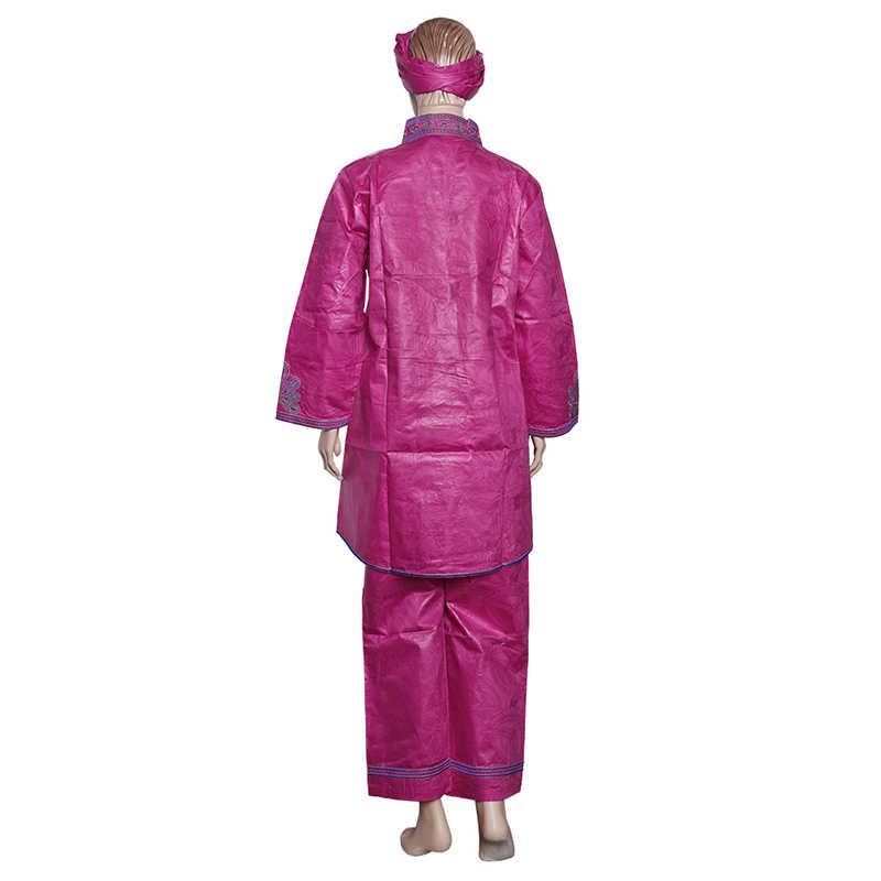 MD גלימת africaine traditionnelle רקמת bazin riche נשים בגדים בתוספת גודל למעלה צפצף חליפה ארוך שרוול האפריקאי דאשיקי חולצה