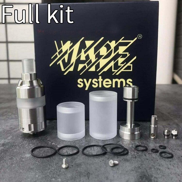 YFTK KA V8 Style RTA Nano Full Kit 22mm Vape Tank MTL RTA Single Coil DIY Rebuildable Atomizer 2ml For Vape Mods Vs  KA V7 Kit