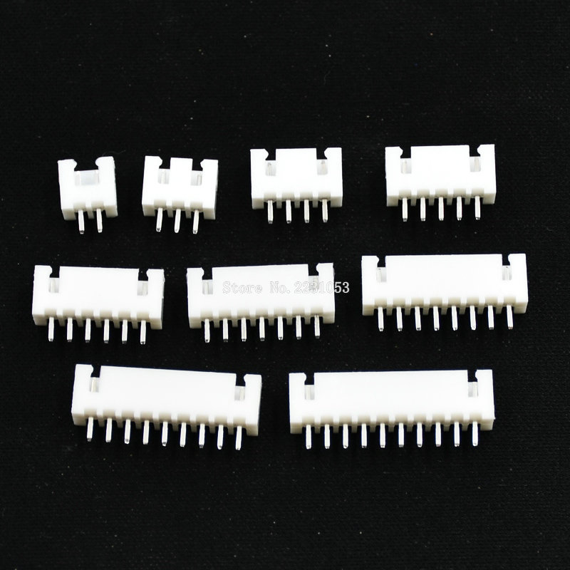 50PCS XH2.54 2p 3p 4p 5p 6p 7p 8p 9p 10pin 2.54mm Pitch Terminal Housing Pin Header Connector Female Wire Connectors Adaptor XH