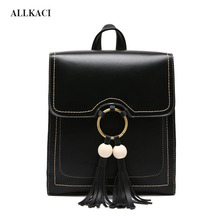 Vintage Pu Leather Women Backpacks Leisure Simple Backpack Women Famous College Bags Preppy Style Black Rucksack Girl Mochilas55