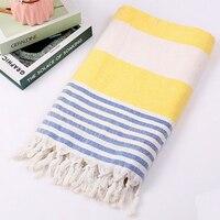 Toalha de praia toalha de banho turco listrado algodão borla toalha viagem acampamento sauna praia ginásio piscina cobertor cirurgia xale