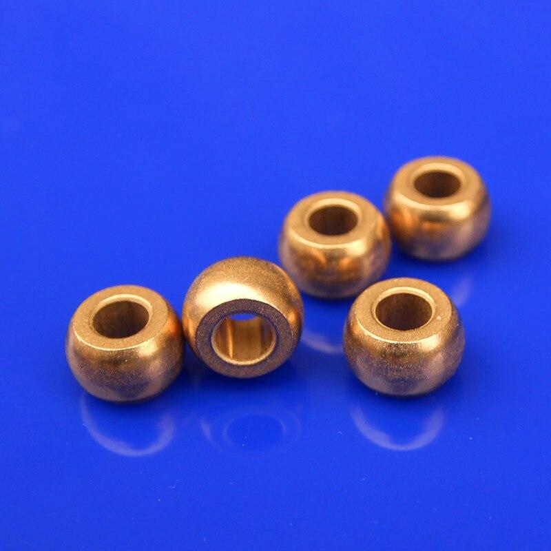 10pcs Spherical oil Bearing Inner Diameter 4 *11* 7mm For Diy Electric Fan Motor Bushing