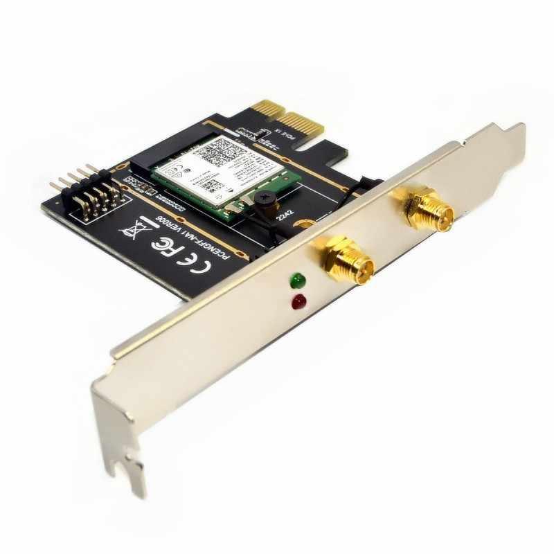 Dwuzakresowy 2974Mbps Wifi 6 Intel AX200 bezprzewodowej PCIe Adapter Wifi 2.4G/5Ghz 802.11ac/ax Bluetooth 5.0 AX200NGW karty pulpit PC