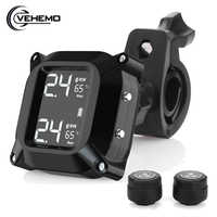 Motorcycle TPMS Tire Pressure Wireless Monitor External Pressure Sensors with 2 External Sensors 5V Real time Monitor