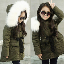 Teen Girls Winter Warm Thicken Cotton Coat Kids Hooded Long Coats For Girl 4 8 10 12 13 Year Outerwear Teen Parkas Down Jacket