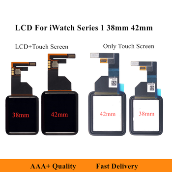 LCD Display Digitizer Assembly For iWatch Series 1 38mm 42mm LCD Touch Screen For Apple Watch Series 1 Front Glass Replacement image