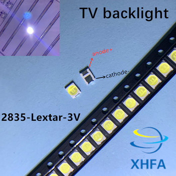 50PCS Original LEXTAR 2835 3528 1210 3V 1w-2W SMD LED For Repair TV Backlight Cold white LCD Backlight LED image