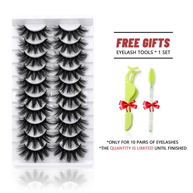 Lashes 5/10 Pairs 3D Faux Mink Lashes Fluffy Soft Wispy Volume Natural long False Eyelashes Eye Lashes Reusable Eyelashs Makeup 4