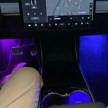 Ультра-яркий сменный светодиодный высокий выход внутренняя лампа автомобильная лампа на дверь лужа багажник свет комплект для Tesla модель 3 S X