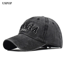 USPOP 2019 Women men caps washable letter baseball cap unisex 100% cotton hat italia