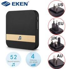 AC 110 220V Smart Innen Türklingel Drahtlose WiFi Tür Glocke US EU UK AU Stecker XSH app Für EKEN V5 V6 V7 M3