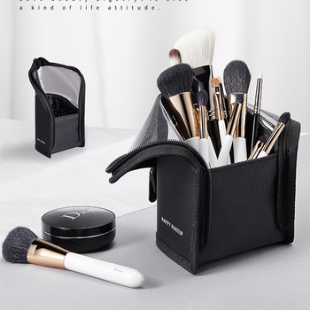 New Makeup Brushes pouch Portable mini trumpet Waterproof Travel Cosmetic Bag Organizer Female beauty Brush storage case 4