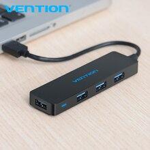 Vention 4 포트 USB 허브 USB 3.0 허브 프린터 Mac 노트북 노트북 고속 멀티 USB 분배기 USB Hab