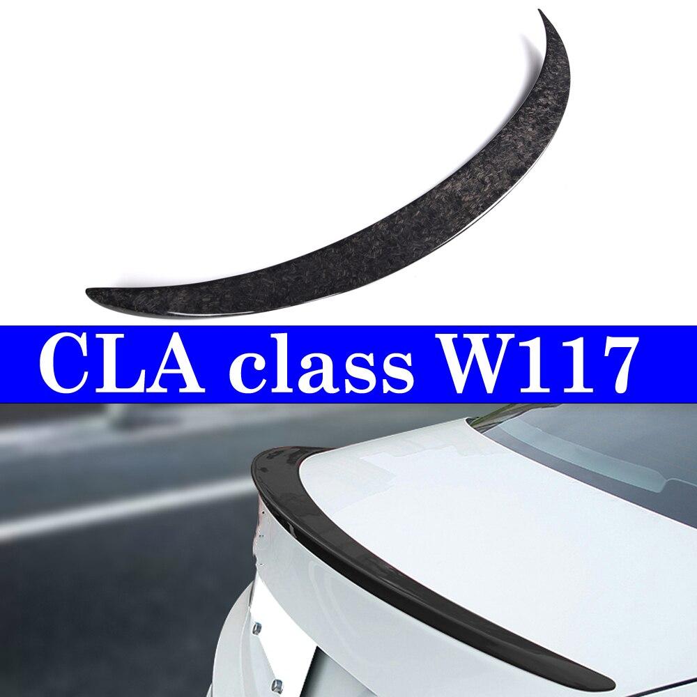 Спойлер из кованого углерода для Mercedes benz C117, спойлер W117 CLA 180 CLA 250 2013 +