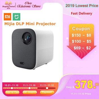 Xiaomi Mijia Mini projecteur DLP Portable 1080P 500ANSI soutien 4K vidéo 3D WIFI Proyector LED projecteur TV Full HD pour Home cinéma