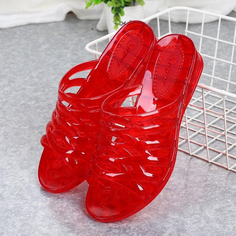 Women's Flip Flop Jelly Shoes Slides Women Summer Slippers Totem  Plastic Slippers Outside Wear Summer Shoes Ladies Flat Slipper 4