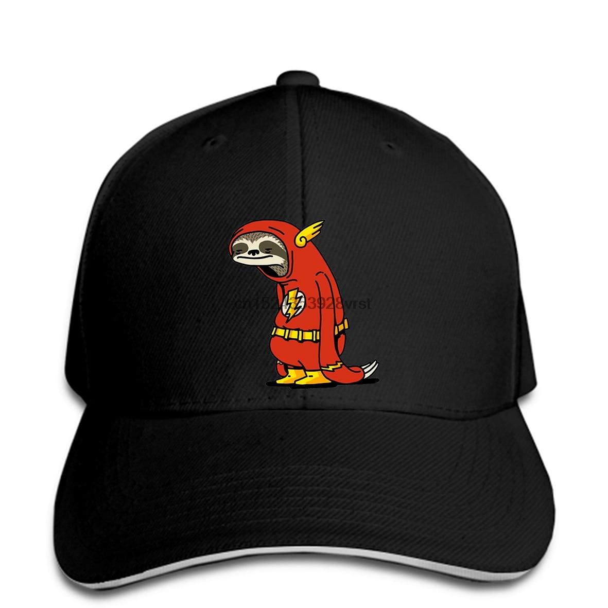 Boné de beisebol uomo divertente flash sloth devo andare veloce artsy snapback chapéu pico