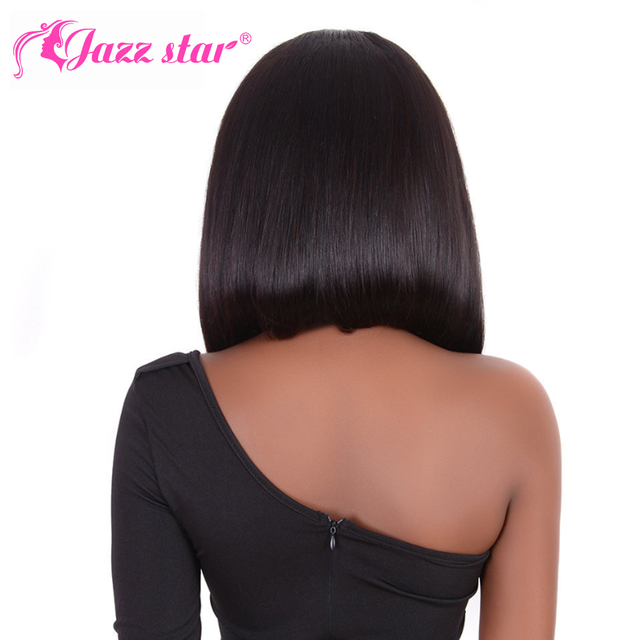 Brazilian Wig Straight Short Bob Lace Front Wigs 13x4 Lace Front Human Hair Wigs Pre-plucked With Baby Hair Jazz Star Non-Remy 6