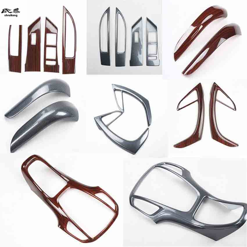 1lot ABS Carbon Fiber Grain Or Wooden Interior Decoration Cover For 2009-2014 OPEL ASTRA J P10