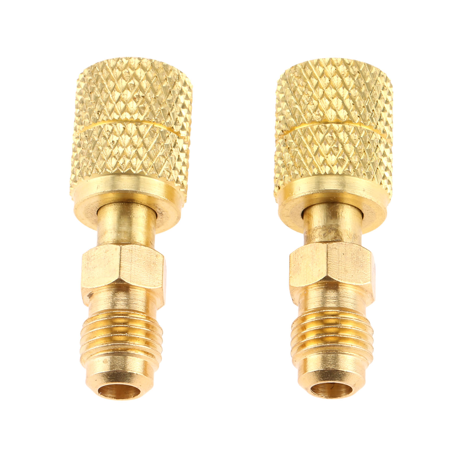 2 PCS R410A 1//4SAE To 5//16 Refrigeration Adapter Connector Adaptor For R410a Gauges Hose Air Condition Connector