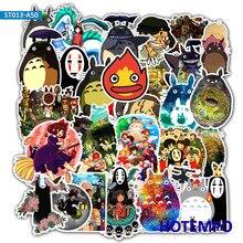 50pcs Anime Manga Miyazaki Hayao Cartoon Stickers for Mobile Phone Laptop Luggage Suitcase Guitar Skateboard Decal