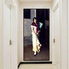 Cassisy Canvas Oil Painting《A Venetian woman》John Singer Sargent Artwork Picture Art Poster Wall Decor Modern Home Decoration hirshler great expectations john singer sargent painting children