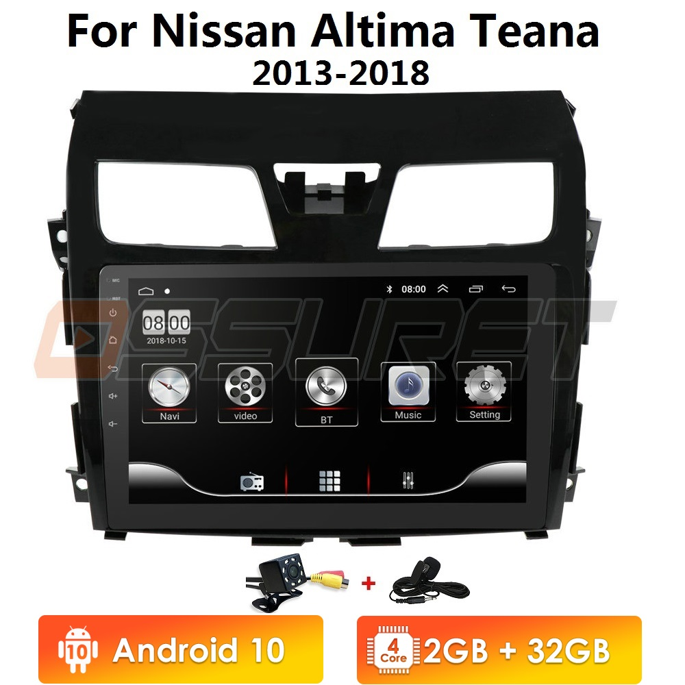 4G LTE Android 10 QuadCore Car Nav Player For Nissan Teana Altima 2013 2014 2015 2016 GPS Radio Multimedia Gps Carplay 2+32/2+16