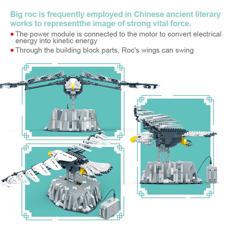 BanBao 75979 Bionic Animal Roc Model Technic MOC RC Building Blocks