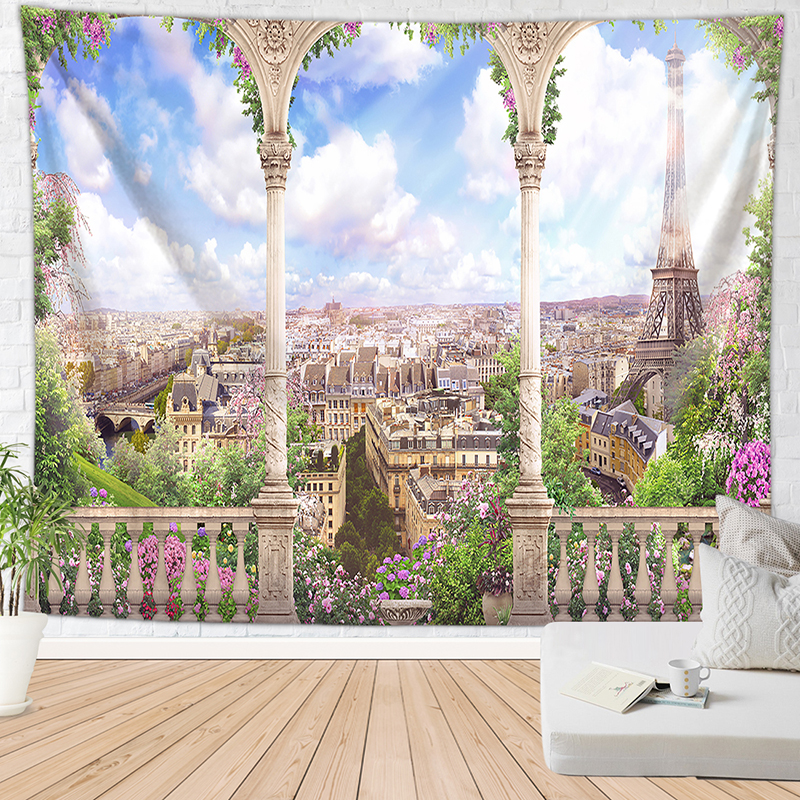 Relaxing Vacation Style Tapestry Scenes 2