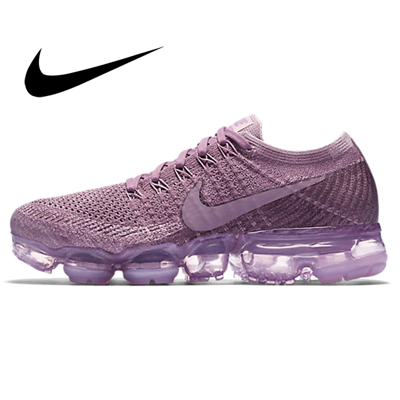 Authentic Nike Air VaporMax Flyknit Women's Running Shoes Outdoor Fitness Sneaker Light Mesh Breathable Shock Absorption 849557