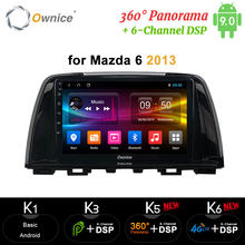 Ownice CarPlay Android 9.0 4G + 64Gวิทยุรถยนต์ 2Din GPS Navi 4G DSP 360 Panorama Optical trajectoryสำหรับมาสด้า 6 2013 2014 2015 2016(China)