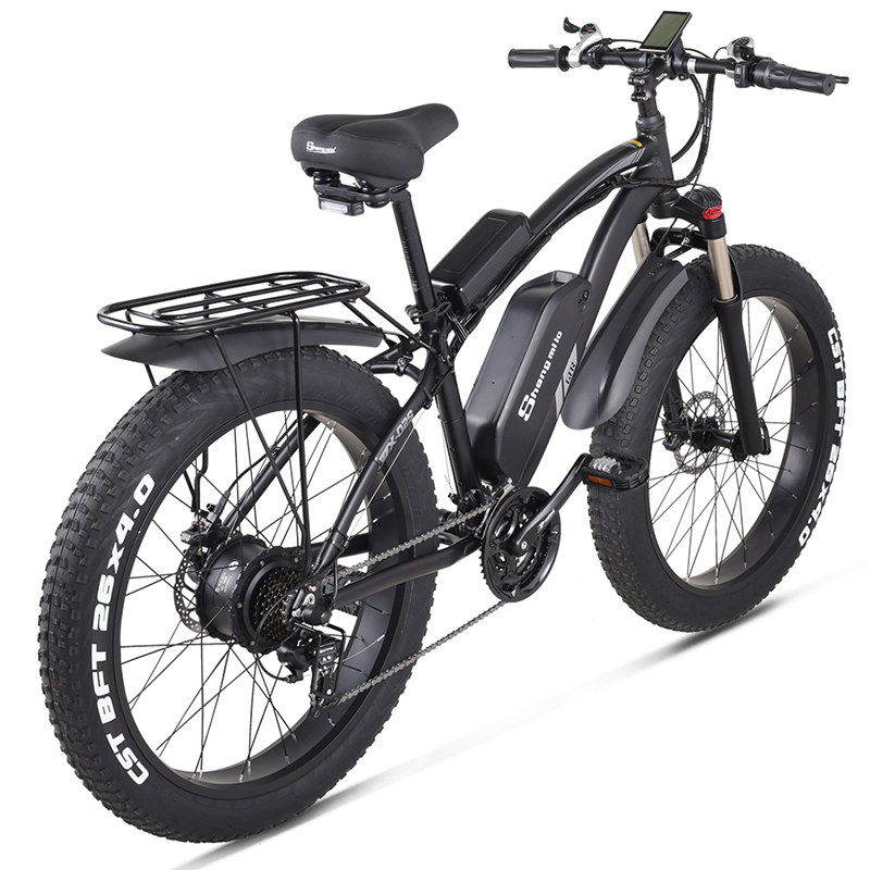MX02S Electric Bike 1000W Snow Bike  Electric Bicycle Electric Mountain Bike 26 inch 4.0 Fat Tire ebike  48V17Ah Lithium Battery 2