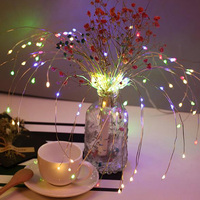 Festival Hängen Starburst String Lichter 160 LEDs DIY Feuerwerk Kupfer Fee Girlande Weihnachten Baum Twinkle Licht-in Lichterketten aus Licht & Beleuchtung bei