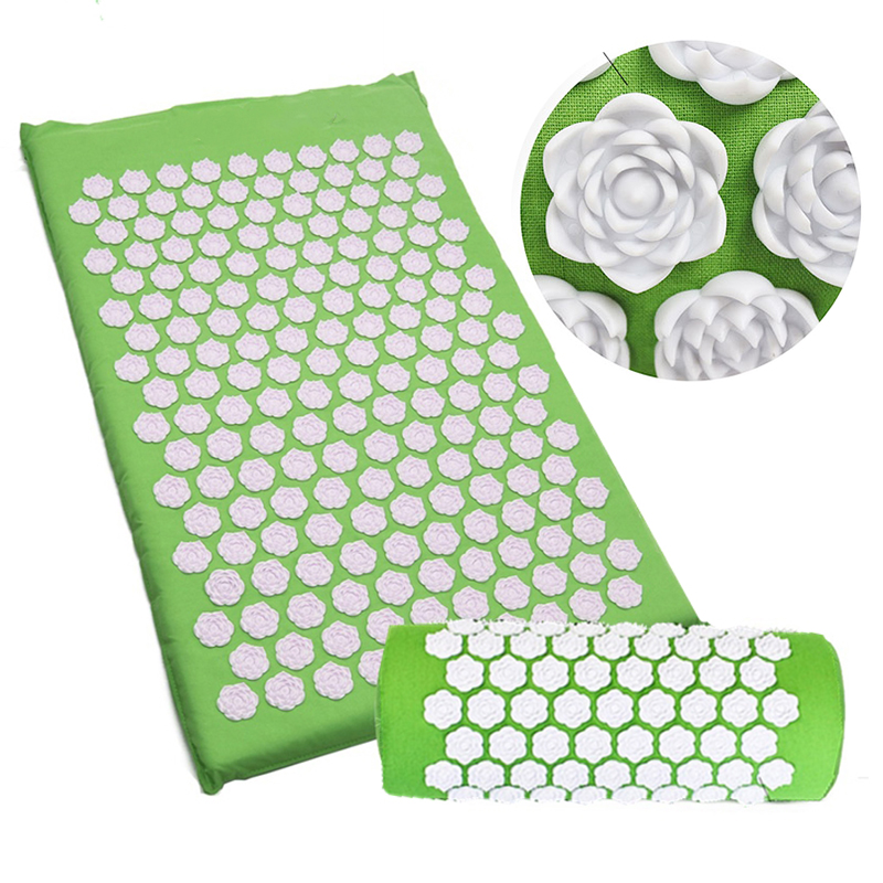Lotus Acupuncture Massage Mat Pillow Set Fitness Yoga Mat Spiky Cushion For Therapy Back Neck Pain Relief Sciatic Pain Muscle