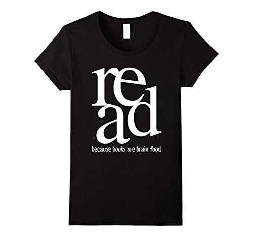 Read Because Books Are Brain Food Reading T Shirt Organic Cotton Female T Shirt Kawaii Hip Hop Brand 2017 Fashion image