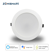 Zemismart 6 Inch 14W WiFi RGBCW Led Downlight Ceiling Light Voice Control by Alexa Google Home Home Automation