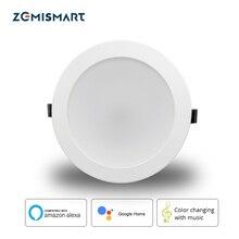 Zemismart luz de techo Led RGBCW, 6 pulgadas, 14W, WiFi, Control por voz, Automatización del hogar, Google Home, Alexa