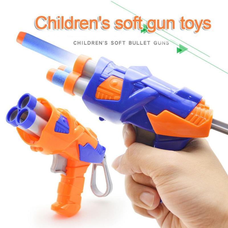 Soft EVA Bullet Toy Gun For Children Dart Suit Kids Bullet Darts Toy Sight Set Children Educational Toys Guns Random Color
