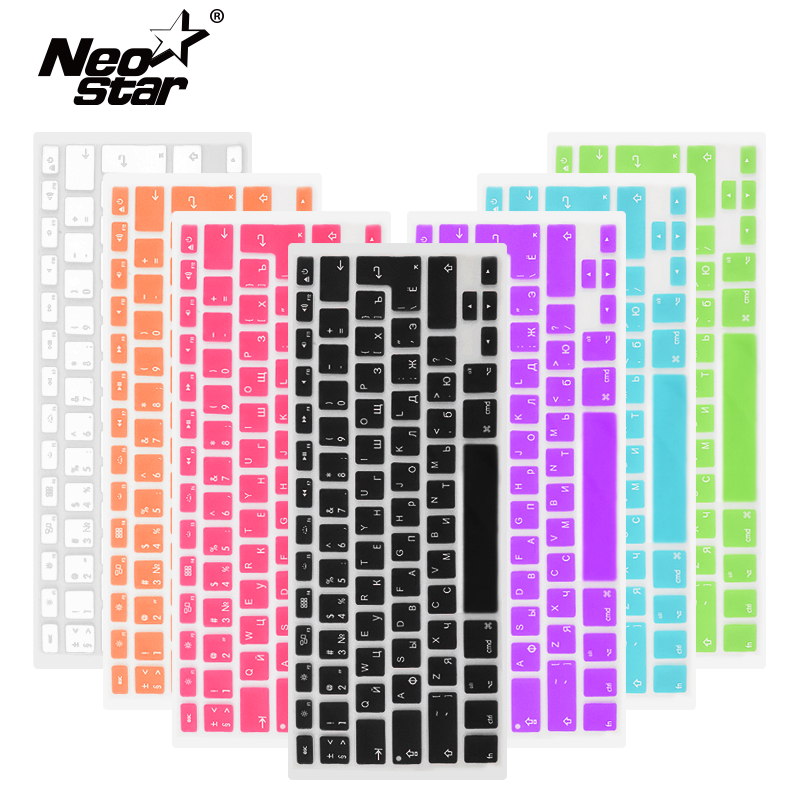 Russian English Keyboard Cover For Apple Macbook Pro Air 13 15 Soft TPU Waterproof keyboard stickers for Macbook EU US 13 15-in Keyboard Covers from Computer & Office