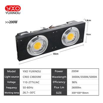 CREE CXB3590 100 W COB LED Rosną światła Pełne Spektrum Samsung LM561C S6 Lampa LED Do Uprawy Roślin Do Użytku W Pomieszczeniach Oświetlenia Wzrostu Roślin