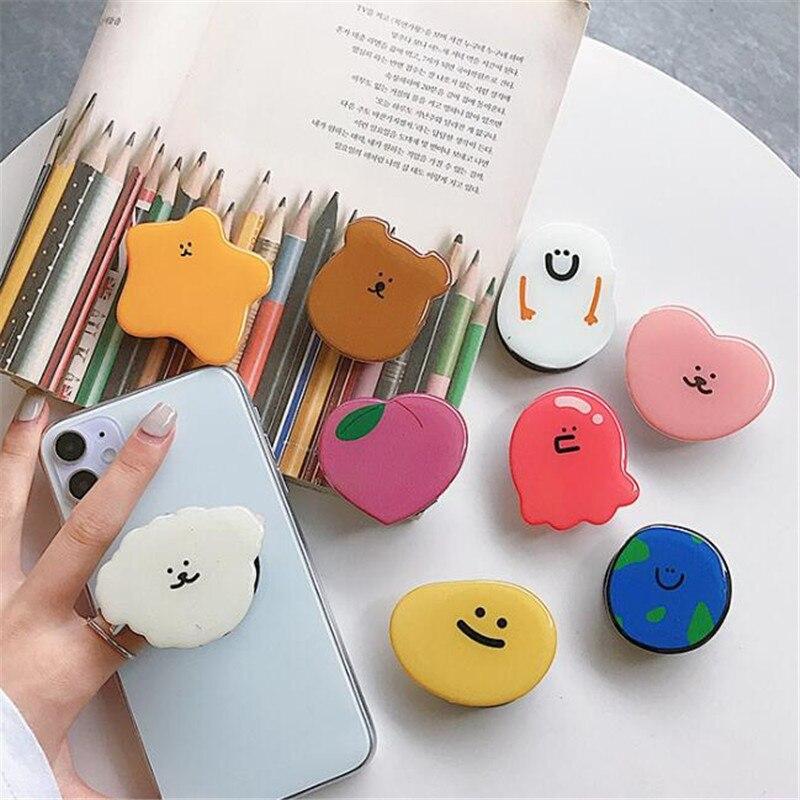 2020 cute Expanding Stand Grip Mount Phone Socket Desktop Stand Bracket Phone Holder Fold Mobile Smartphones Pocket
